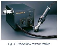 Hakko 850 rework station